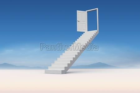 immagine composita delle scale che conducono