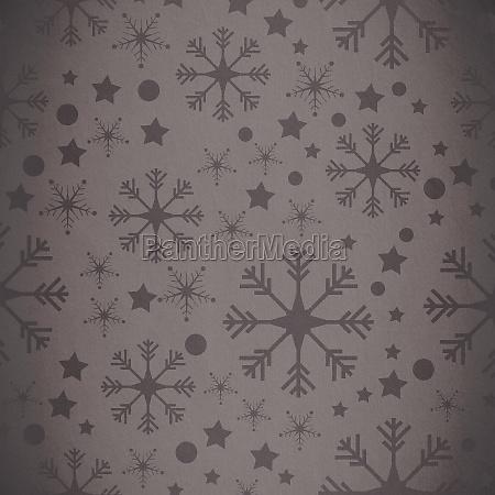 composite bild von schneeflocke muster