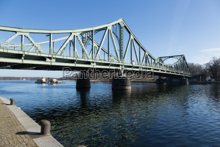 glienicke bridge and towboat