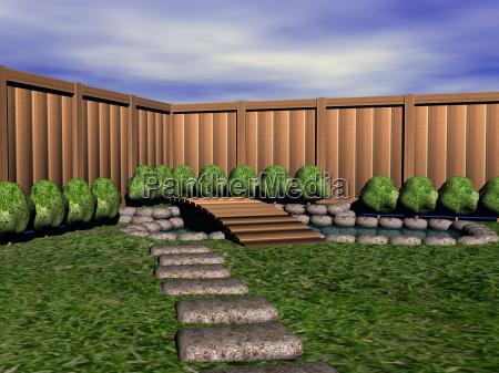 zengarten mit teich
