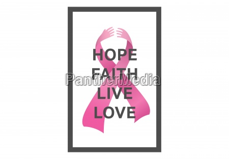 brustkrebs bewusstseins botschaft der hoffnung
