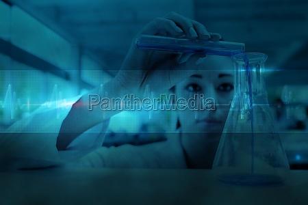 composite bild von wissenschaftler der eine