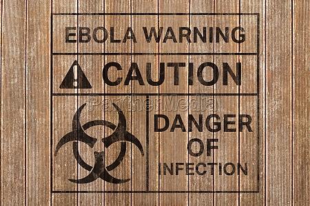 composite bild von ebola virus alarm