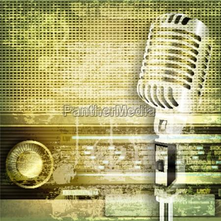 abstrakter, ton, grunge, hintergrund, mit, mikrofon - 13728099