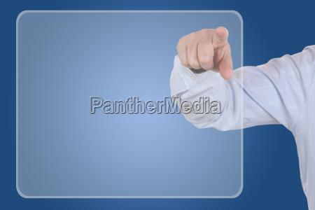 businessman mit leerem display thema organisation