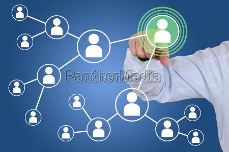 beziehungen und kontakte im soziales netzwerk