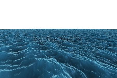 digital erzeugte grafik raue blauen ozean
