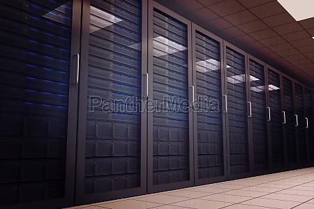 digital erzeugten serverraum mit tuermen