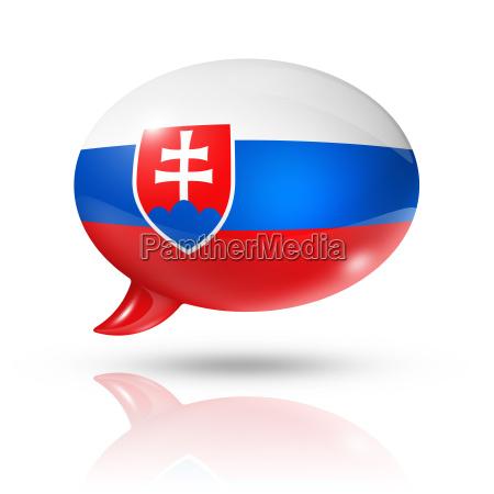 slowakische flagge sprechblase