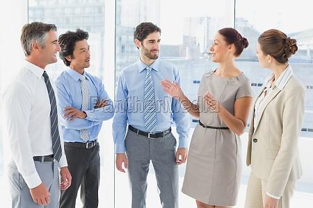 mitarbeiters mit einem business meeting