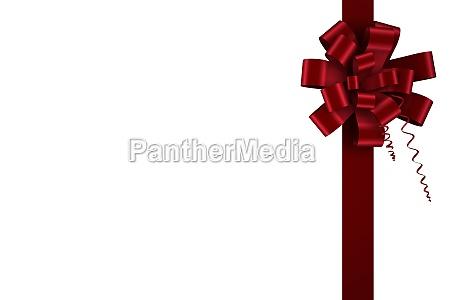 roter weihnachtsbogen und band