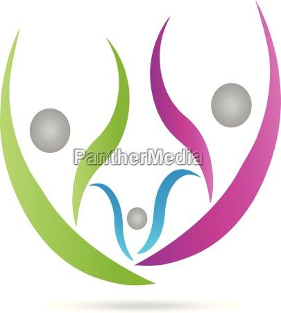 logo menschen drei personen familie