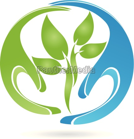 logo plant leaves hands naturopaths