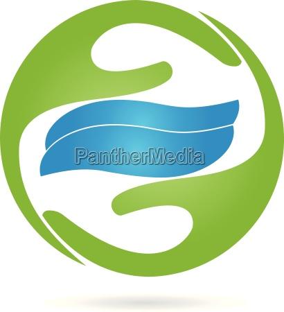 logo haende wellen wasser