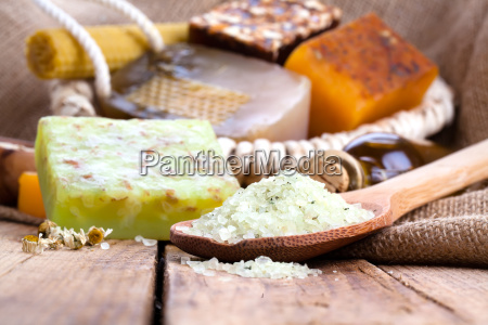 aromatic spa with sea salt and