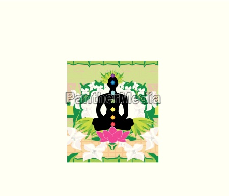 yoga lotus pose padmasana mit chakra