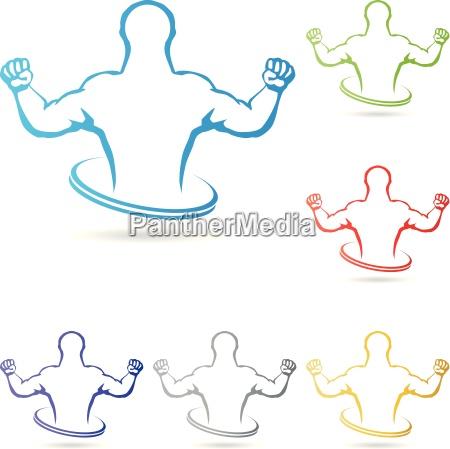 logo mensch fitness sport