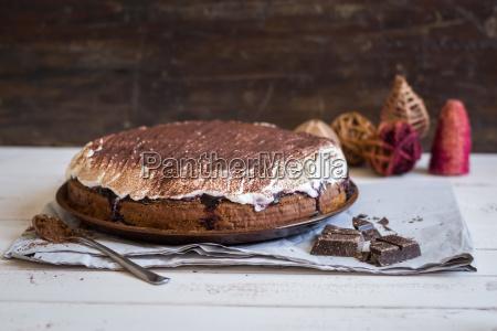 schokoladenkuchen mit sahne