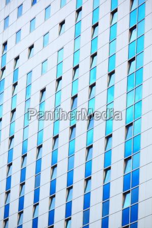 modern futuristic business building in city
