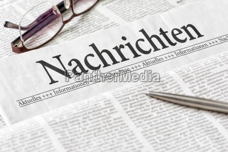 newspaper with the headline news