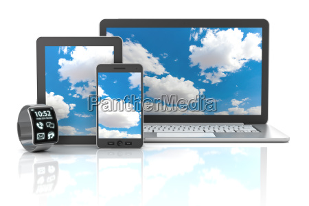gadgets einschliesslich smartphone smartwatch digitale tablette
