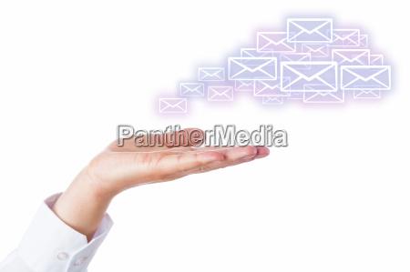 e mail wolke verlassen der palme