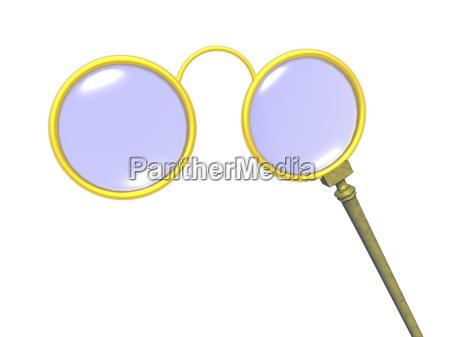 lorgnette stilbrille freigestelt