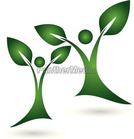 logo plant leaves people naturopaths