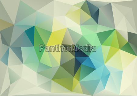 abstract blue and green low poly