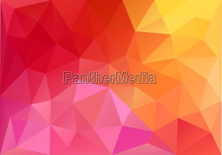 abstract red and orange low poly