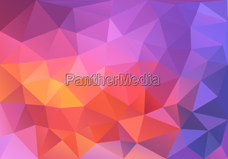 abstract red and purple low poly