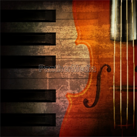 abstract grunge music background with violin