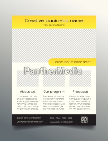 business flyer template modern sleek