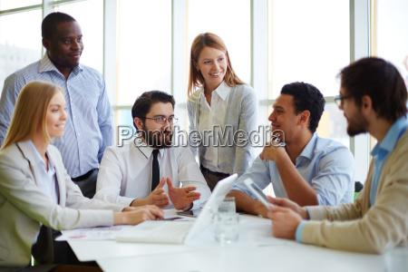 treffen der chef und manager