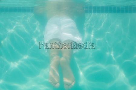 cute, kind, unterwasser, im, pool - 13807239