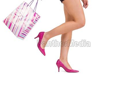 womans beine in high heels