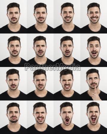 der mensch in verschiedenen stimmungen