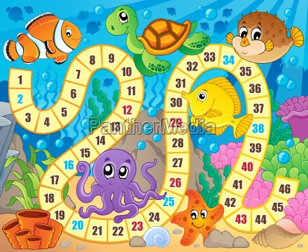board game image with underwater theme