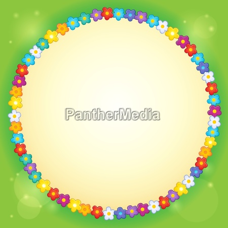frame with flower theme 3