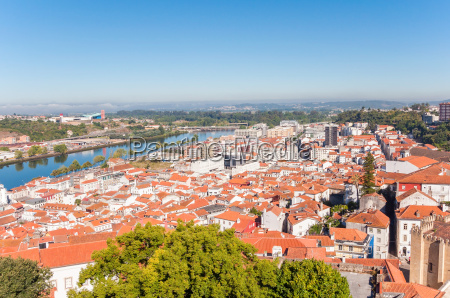 cityscape over the roofs of coimbra