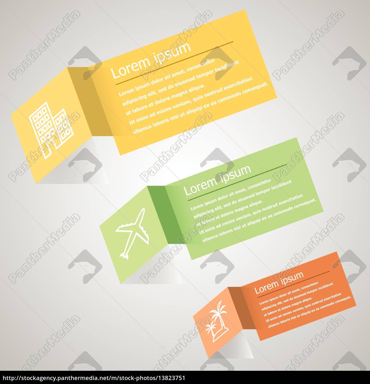 zusammenfassung origami infografik design-vorlage - Stockfoto ...