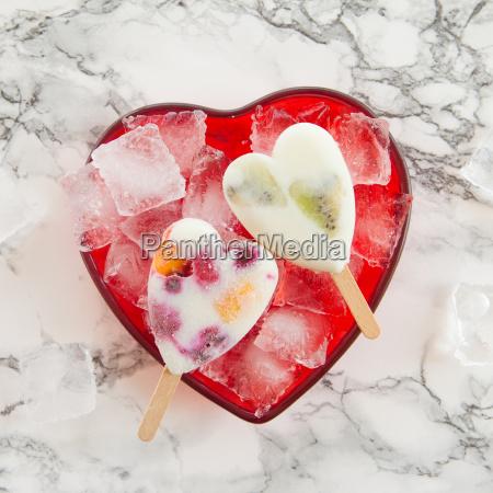 homemade fruit ice cream