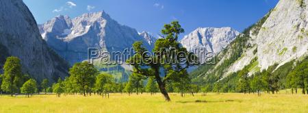 grosser ahornboden als panorama landschaft in