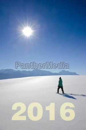 hiker on the mountain summit in