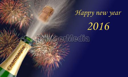 capodanno 2016 con champagne tappi volanti
