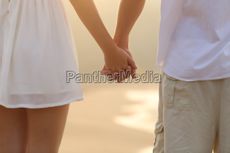 close up of a couple walking