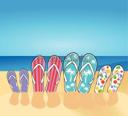 flip flops am strand