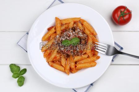 penne rigate bolognese or bolognaise sauce