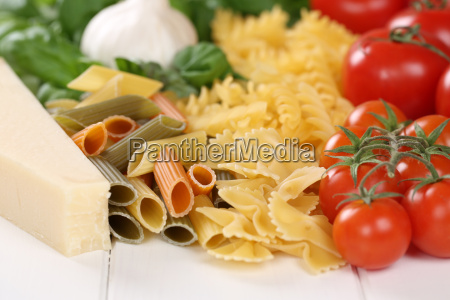 ingredients for a pasta noodle dish