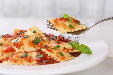 ravioli with tomato sauce food dish